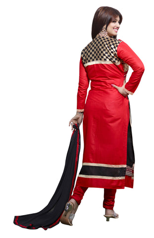 The Aayesha Takia Collection:atisundar beauteous Red And Black Designer Straight Cut  - 7391 - atisundar - 3 - click to zoom
