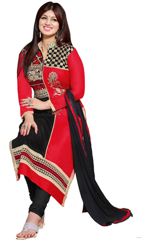 The Aayesha Takia Collection:atisundar beauteous Red And Black Designer Straight Cut  - 7391 - atisundar - 4 - click to zoom