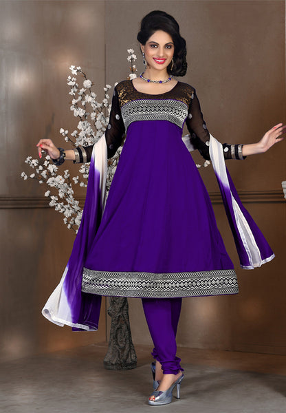 atisundar Tulika: Great Unstitched Salwar Kameez In Purple - 4094 - atisundar - 2 - click to zoom
