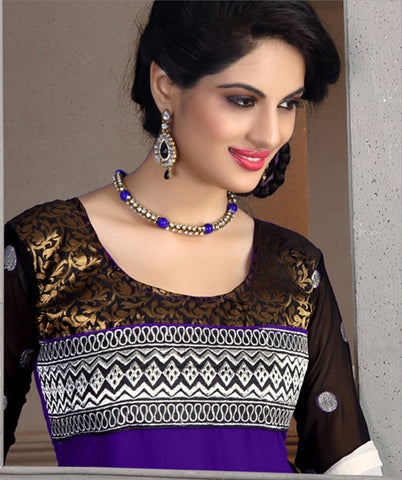 atisundar Tulika: Great Unstitched Salwar Kameez In Purple - 4094 - atisundar - 4