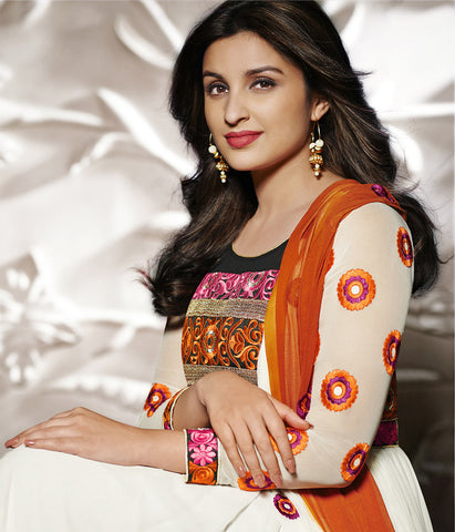 Parineeti Chopra Collection:atisundar radiant   in Offwhite And Orange - 4811 - atisundar - 3
