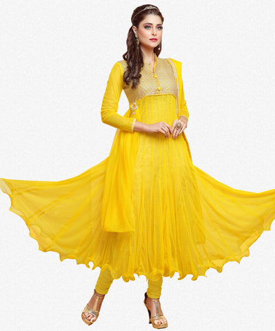 Designer Gown Style Suit:atisundar bewitching Yellow Anarkali - 7540 - atisundar - 2 - click to zoom