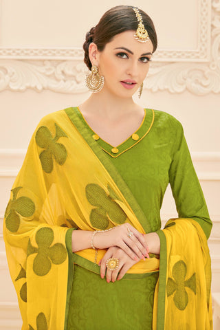 Designer Straight Cut:atisundar lovely Light Green Designer Straight Cut  - 12633