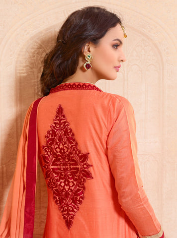 Designer Straight Cut:atisundar delightful Orange Designer Straight Cut  - 8331 - atisundar - 3
