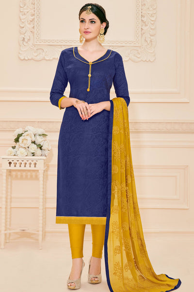 Designer Straight Cut:atisundar admirable Blue Designer Straight Cut  - 12637 - click to zoom