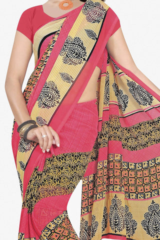 Designer Saree:atisundar splendid Designer Saree in Faux Georgette in Pink  - 11692 - atisundar - 2 - click to zoom