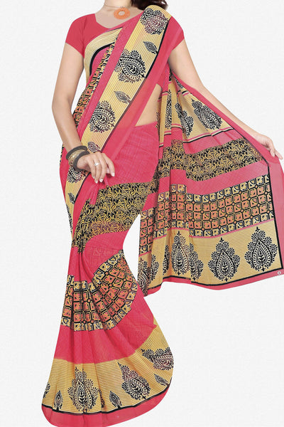 Designer Saree:atisundar splendid Designer Saree in Faux Georgette in Pink  - 11692 - atisundar - 1 - click to zoom