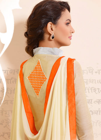Designer Straight Cut:atisundar Attractive Cream Designer Straight Cut  - 8335 - atisundar - 3