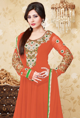 The Rimi Sen Collection:atisundar excellent Orange Anarkali - 7894 - atisundar - 2
