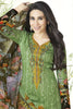 Designer Straight Cut:atisundar marvelous Green Embroidered Designer Semi Stitched Straight Cut In Pure Cotton - 14387 - click to zoom