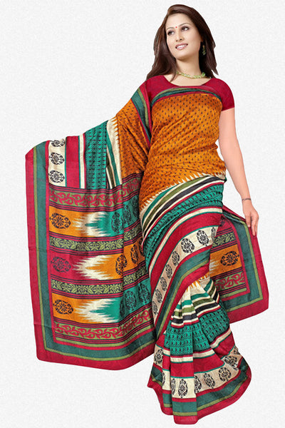atisundar Attractive Orange Colored Saree - atisundar - 1 - click to zoom
