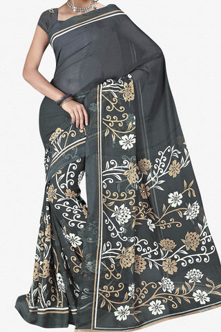 Designer Saree:atisundar fair Designer Saree in Faux Georgette in Grey  - 11722 - atisundar - 1 - click to zoom