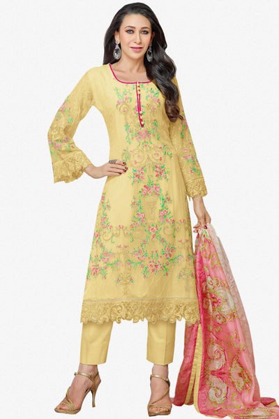 The Karishma Kapoor Collection:atisundar splendid Yellow Designer Straight Cut  - 9797 - click to zoom