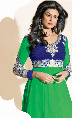 The Sushmita Sen Collection:atisundar Lara: Semi stitched Designer Embroidered Anarkali  - 4418 - atisundar - 4