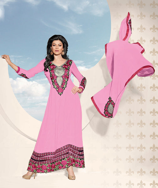 The Sushmita Sen Collection: atisundar Sona: Designer Embroidered Semi stitched Anarkali - 4419 - atisundar - 3 - click to zoom