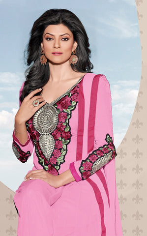 The Sushmita Sen Collection: atisundar Sona: Designer Embroidered Semi stitched Anarkali - 4419 - atisundar - 4