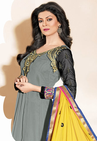 The Sushmita Sen Collection: atisundar Sonam: Elegant Designer Embroidered Semi stitched Anarkali - 4420 - atisundar - 3