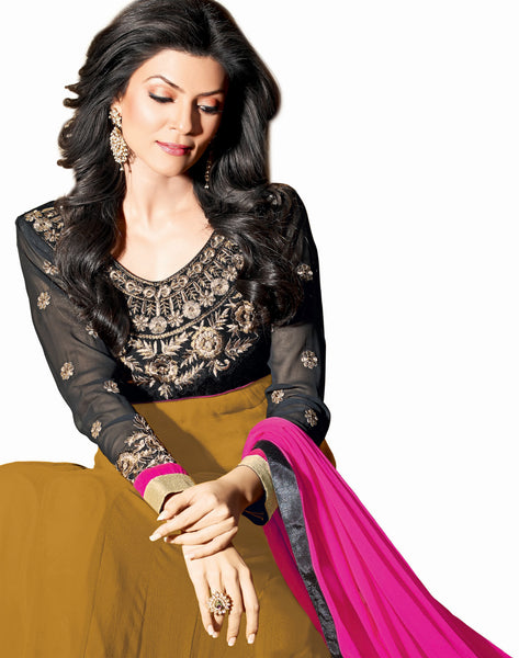 The Sushmita Sen Collection: atisundar Neha: Beautiful Embroidered Semi stitched Anarkali - 4425 - atisundar - 4 - click to zoom