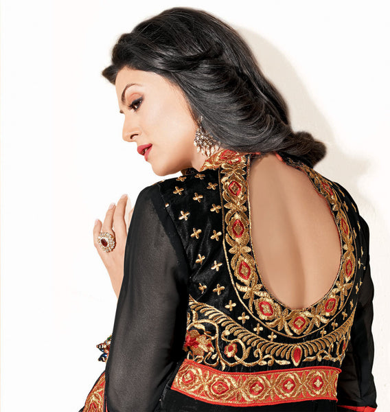 The Sushmita Sen Collection: atisundar Mehak: Designer Embroidered Anarkali - 4427 - atisundar - 5 - click to zoom