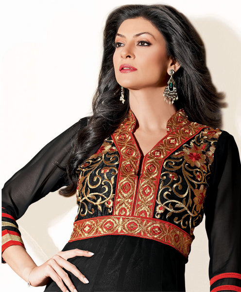 The Sushmita Sen Collection: atisundar Mehak: Designer Embroidered Anarkali - 4427 - atisundar - 4 - click to zoom
