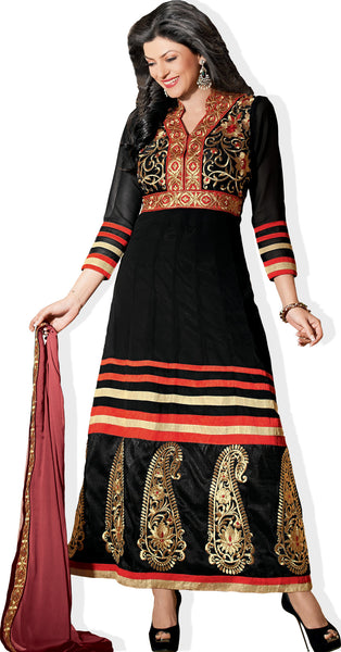 The Sushmita Sen Collection: atisundar Mehak: Designer Embroidered Anarkali - 4427 - atisundar - 2 - click to zoom