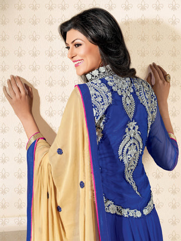 The Sushmita Sen Collection: atisundar Sia: Designer Embroidered Semi stitched Anarkali  - 4428 - atisundar - 2