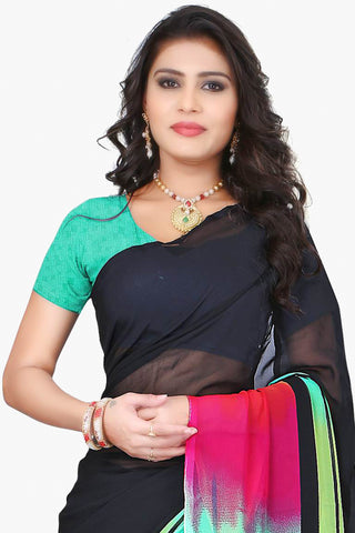 Designer Party wear Saree:atisundar Charismatic Designer Sarees in Black And Multi  - 11487 - atisundar - 2