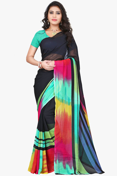 Designer Party wear Saree:atisundar Charismatic Designer Sarees in Black And Multi  - 11487 - atisundar - 1 - click to zoom