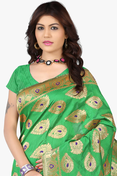 Designer Saree:atisundar bewitching Designer Sarees in Sea Green  - 11143 - click to zoom