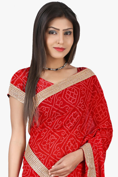 Designer Saree:atisundar comely Designer Sarees in Red  - 11140 - atisundar - 2 - click to zoom