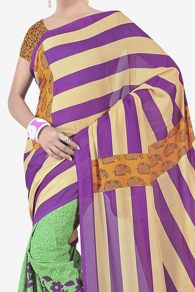 Designer Saree:atisundar fascinating Designer Saree in Faux Georgette in Multi  - 11733 - click to zoom