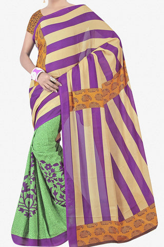 Designer Saree:atisundar fascinating Designer Saree in Faux Georgette in Multi  - 11733 - atisundar - 1 - click to zoom