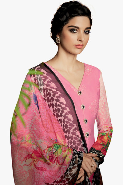 Designer Straight Cut:atisundar Superb Light Pink Designer Plazzo Straight Cut by Kimora - 12129 - atisundar - 2 - click to zoom