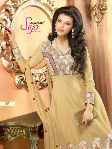 Zareena: Appealing Semi stitched Salwar Kameez In Beige - 4190 - atisundar - 3 - click to zoom
