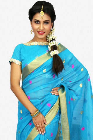 Designer Saree:atisundar Charismatic Designer Party Wear Saree in Blue  - 13217