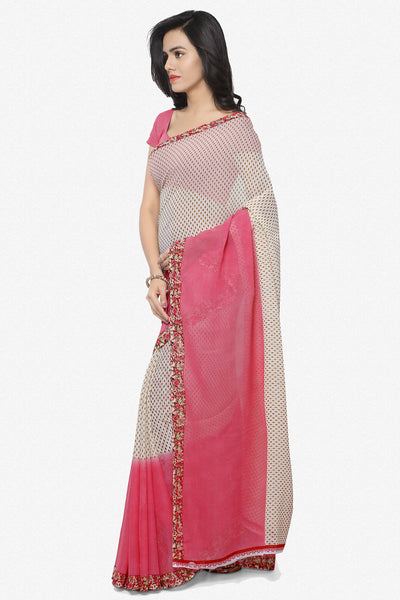 Designer Saree:atisundar angelic Designer Faux Georgette Saree in Light Red  - 12294 - click to zoom