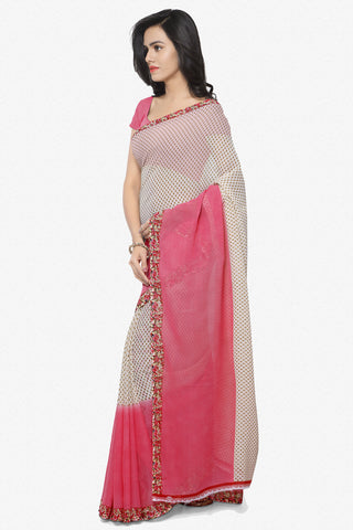 Designer Saree:atisundar angelic Designer Faux Georgette Saree in Light Red  - 12294 - atisundar - 2 - click to zoom