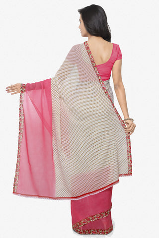 Designer Saree:atisundar angelic Designer Faux Georgette Saree in Light Red  - 12294 - atisundar - 5 - click to zoom