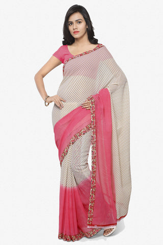 Designer Saree:atisundar angelic Designer Faux Georgette Saree in Light Red  - 12294 - atisundar - 1 - click to zoom