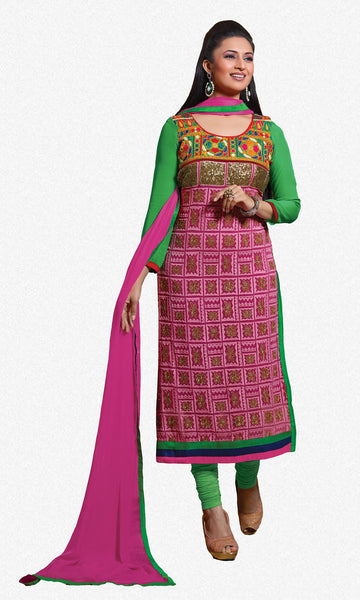 The Divyanka Tripathi Collection:atisundar stunning Pink Designer Straight Cut  - 6822 - atisundar - 1 - click to zoom
