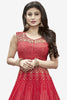 Designer Anarkali:atisundar refined Red Designer Embroidered Anarkali in Faux Georgette Featuring Mouni Roy - 11641 - atisundar - 2 - click to zoom