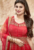 Designer Anarkali:atisundar refined Red Designer Embroidered Anarkali in Faux Georgette Featuring Mouni Roy - 11641 - atisundar - 5 - click to zoom