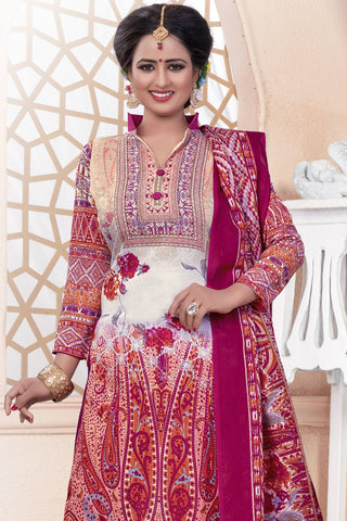 Designer Straight Cut:atisundar Great Pink Designer Party Wear Straight Cut - 13189