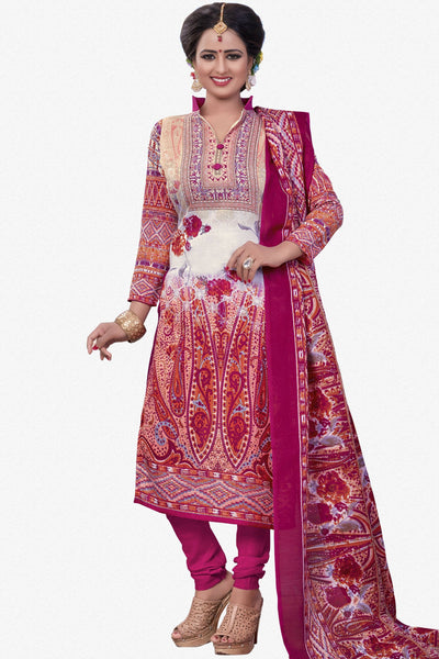 Designer Straight Cut:atisundar Great Pink Designer Party Wear Straight Cut - 13189 - click to zoom