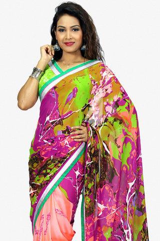 Designer Saree:atisundar fair Designer Party Wear Saree in Multi  - 13234