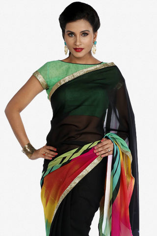 Designer Saree:atisundar superb Designer Party Wear Saree in Multi  - 13246