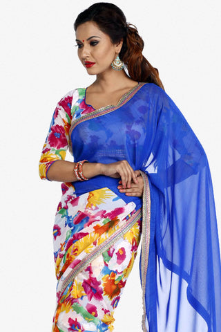Designer Saree:atisundar admirable Designer Party Wear Saree in Multi  - 13249