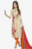 Designer Straight Cut:atisundar appealing Cream Designer Party Wear Straight Cut in Faux Chanderi Cotton - 11952 - atisundar - 1 - click to zoom
