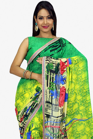 Designer Saree:atisundar splendid Designer Party Wear Saree in Green  - 13256