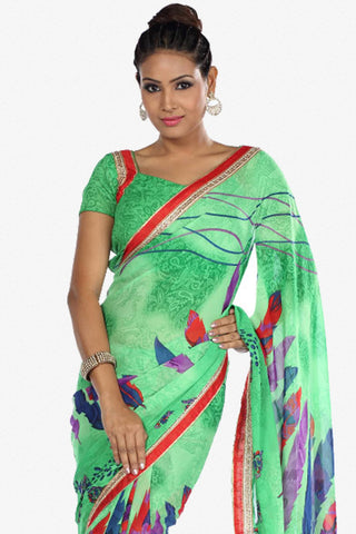 Designer Saree:atisundar splendid Designer Party Wear Saree in Green  - 13262
